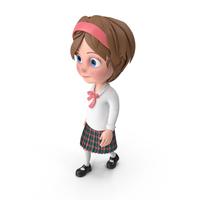 Cartoon Girl Walking PNG & PSD Images
