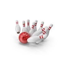 Bowling Ball and Pins PNG & PSD Images