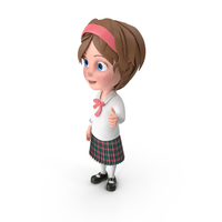 Cartoon Girl Thumbs Up PNG & PSD Images