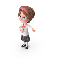 Cartoon Girl Direct Attention PNG & PSD Images