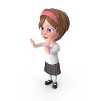 Cartoon Girl Stop PNG & PSD Images