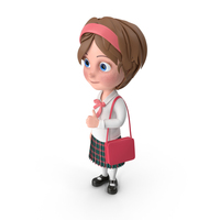 Cartoon Girl Traveling PNG & PSD Images