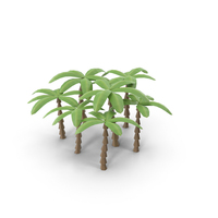 Low Poly Palm Trees PNG & PSD Images