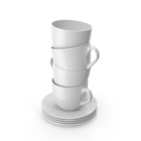 Small White Cup White PNG & PSD Images