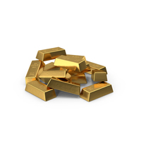 Gold Bars Pile PNG & PSD Images