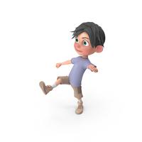 Cartoon Boy Jack Kicking PNG & PSD Images