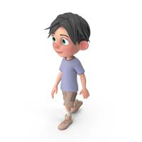 Cartoon Boy Jack Walking PNG & PSD Images