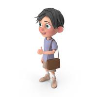 Cartoon Boy Jack Travelling PNG & PSD Images