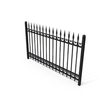 Wrought Iron Fence PNG & PSD Images