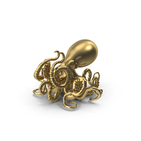 Golden Octopus PNG & PSD Images