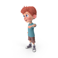Cartoon Boy Charlie Cheering PNG & PSD Images