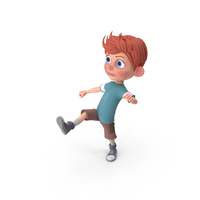 Cartoon Boy Charlie Kicking PNG & PSD Images