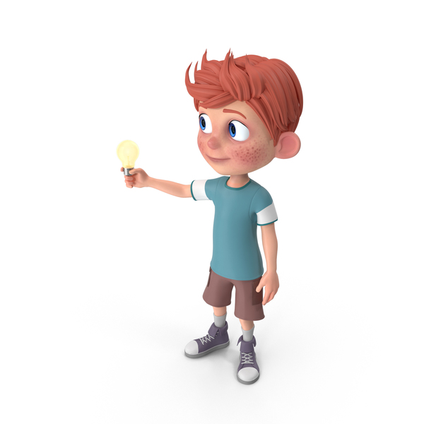 Cartoon Boy Charlie Has An Idea PNG & PSD Images