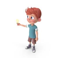 Cartoon Boy Charlie Has An Idea PNG & PSD Images
