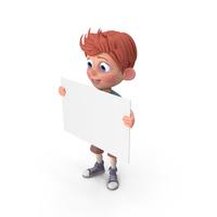 Cartoon Boy Charlie Sign PNG & PSD Images