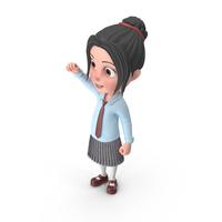 Cartoon Girl Emma Cheering PNG & PSD Images
