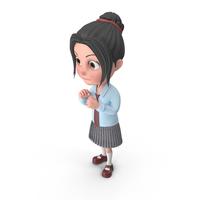 Cartoon Girl Emma Guarding PNG & PSD Images