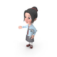 Cartoon Girl Emma Holding Plans PNG & PSD Images