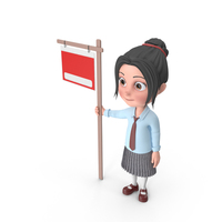 Cartoon Girl Emma Showing Sign PNG & PSD Images