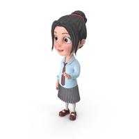 Cartoon Girl Emma Talking PNG & PSD Images