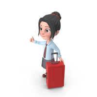 Cartoon Girl Emma Traveling PNG & PSD Images