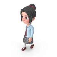 Cartoon Girl Emma Walking PNG & PSD Images
