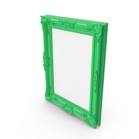 Green Baroque Picture Frame PNG & PSD Images