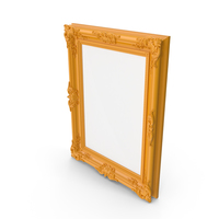 Orange Baroque Picture Frame PNG & PSD Images
