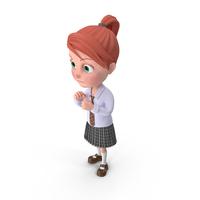 Cartoon Girl Grace Guarding PNG & PSD Images