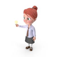 Cartoon Girl Grace Has An Idea PNG & PSD Images