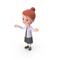 Cartoon Girl Grace Lost PNG & PSD Images