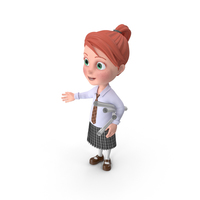 Cartoon Girl Grace with Plans PNG & PSD Images