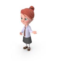 Cartoon Girl Grace Showcase PNG & PSD Images