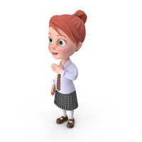 Cartoon Girl Grace Talking PNG & PSD Images