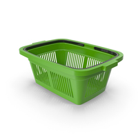 Plastic Shopping Basket Green PNG & PSD Images