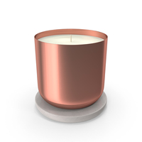 Scented Candle Small Metal Copper PNG & PSD Images