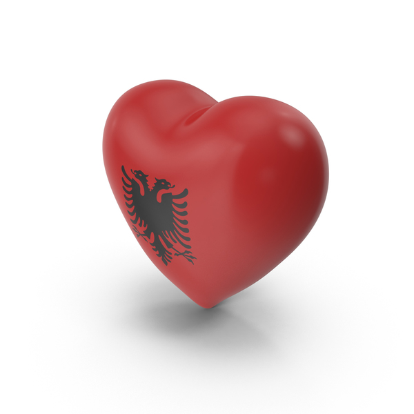Albania Heart Flag PNG & PSD Images