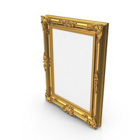 Golden Glossy Picture Frame PNG & PSD Images