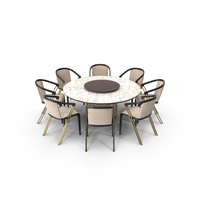 Longhi Manfred Dining Table & Chairs PNG & PSD Images