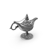 Antique Silver Magic Lamp PNG & PSD Images