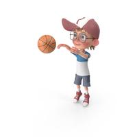 Cartoon Boy Harry Playing Basketball PNG & PSD Images