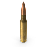 7.62×51mm NATO Cartridge PNG & PSD Images