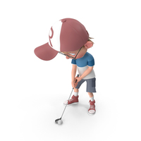 Cartoon Boy Harry Golfing PNG & PSD Images