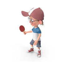 Cartoon Boy Harry Playing Table Tennis PNG & PSD Images