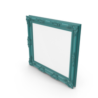 Big Green Blue Picture Frame PNG & PSD Images