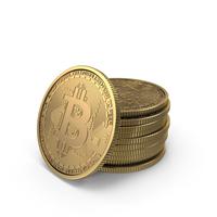 Gold Bitcoins PNG & PSD Images