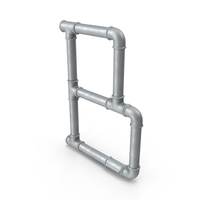 Galvanized Pipe Letter B PNG & PSD Images