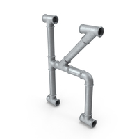 Galvanized Pipe Letter K PNG & PSD Images