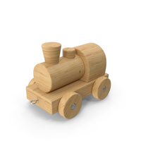 Wooden Toy Locomotive PNG & PSD Images