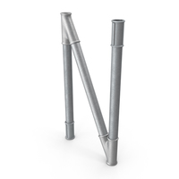Galvanized Pipe Letter N PNG & PSD Images